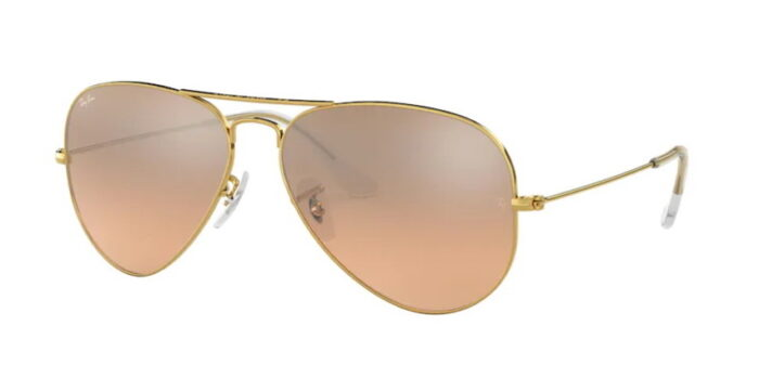 Ray Ban RB3025 001/3E gold crystal brown-pink silver mirror verspiegelt