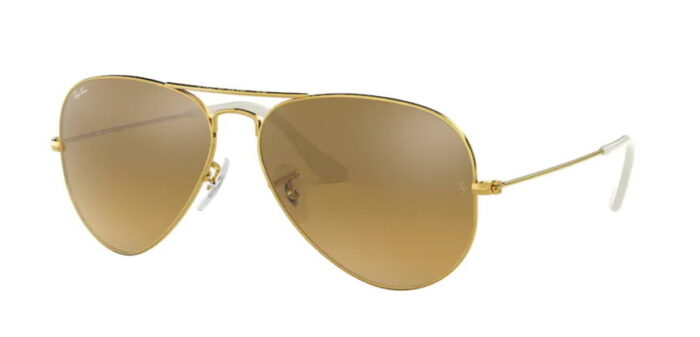 Ray Ban RB3025 001/3K gold crystal brown mirror silver gradient