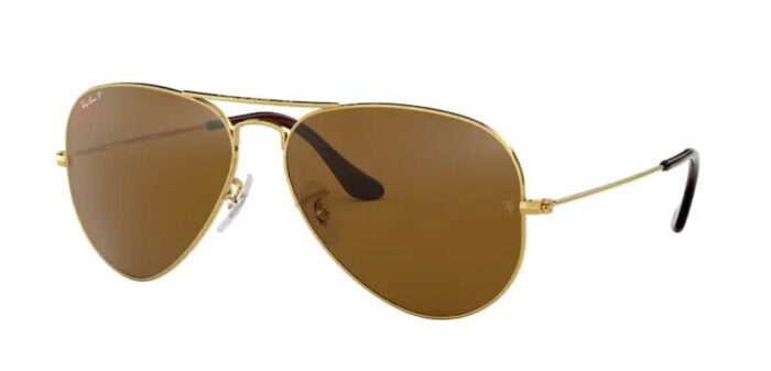 Ray Ban RB3025 001/57 gold crystal brown polarized