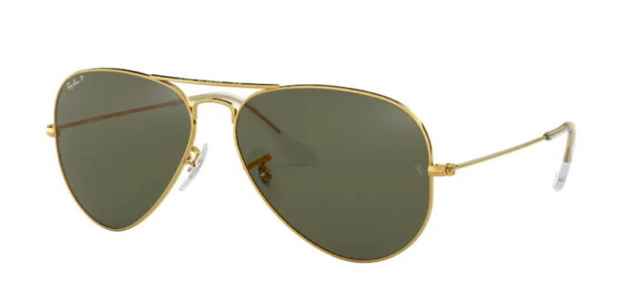 Ray Ban RB3025 001/58 gold crystal green polarized