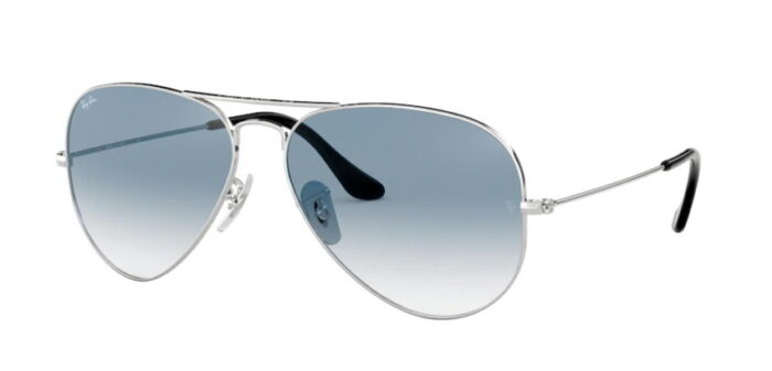 Ray Ban RB3025 003/3F silver crystal gradient light blue