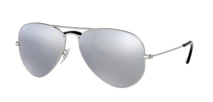 Ray Ban RB3025 019/w3 matte silver dark grey mirror polar verspiegelt