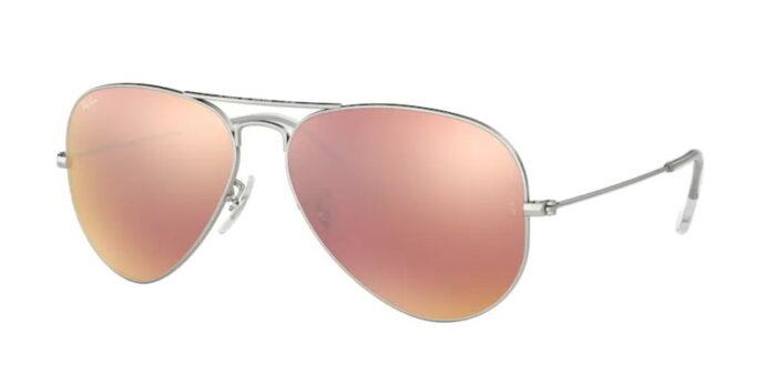 Ray Ban RB3025 0019/Z2 matte silver brown mirror pink