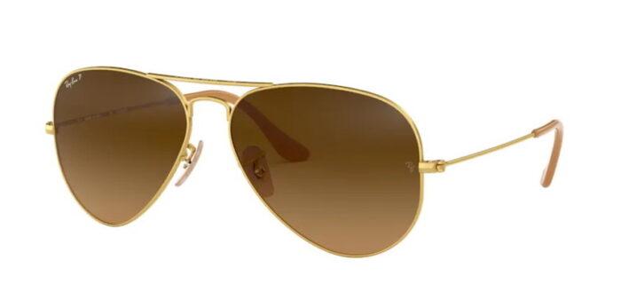 Ray Ban RB3025 112/M2 matte gold brown gradient brown polar