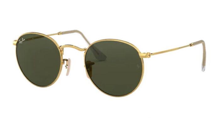 Ray Ban RB 3447 001 Arista gold crystal green 80%