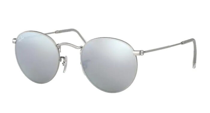 Ray Ban RB 3447 00019/30 Matte silver crystal light blue mirror silver