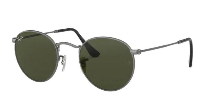 Ray Ban RB 3447 029 Matte gunmetal crystal green lens