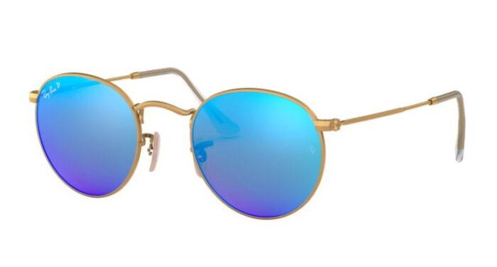 Ray Ban RB 3447 112/4L Matte gold blue mirror Polar blau verspiegelt mit Polarisation