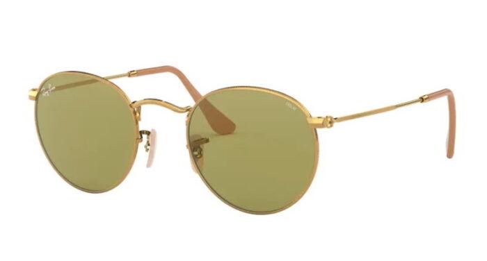 Ray Ban RB 3447 90644C gold photochromic green lens