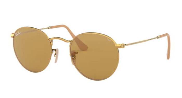 Ray Ban RB 3447 90644I gold photochromic brown mineral lens