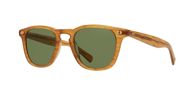 Garrett Leight Brooks X Sun BT Butterscotch Pure Green side