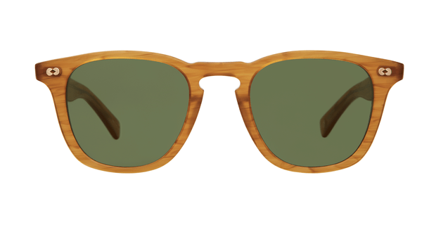 Garrett Leight Brooks X Sun BT Butterscotch Pure Green front