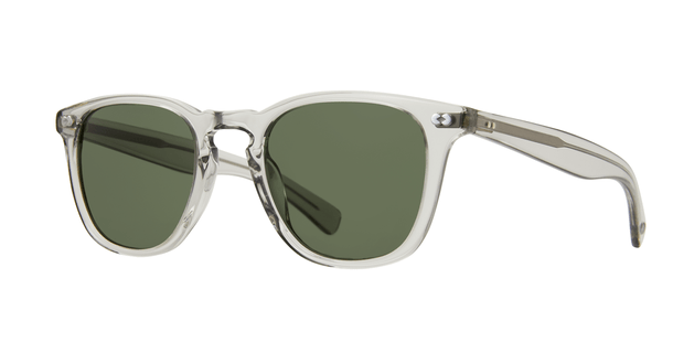 Garrett Leight Brooks X LLG Grey Crystal Pure G15 side