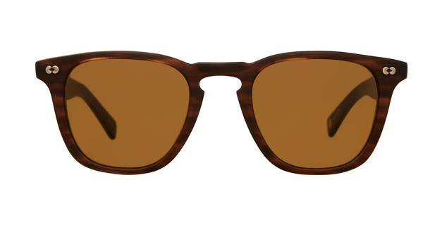 Garrett Leight Brooks X SUN 48 MBRT Matte Brandy Tortoise Pure Brown front