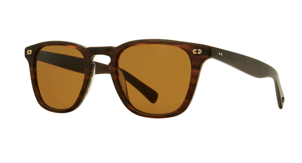 Garrett Leight Brooks X SUN 48 MBRT Matte Brandy Tortoise Pure Brown side