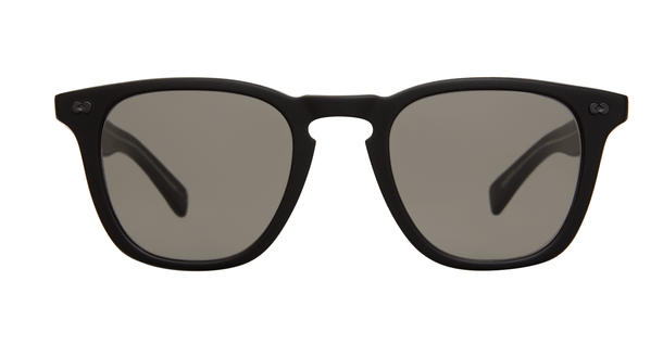 Garrett Leight Brooks X SUN 48 MBK Matt Black Pure Grey front