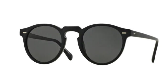 Oliver Peoples OV5217S Gregory Peck 1031P2 Semi Matte Black crystal Midnight Express Polarisation Lenses