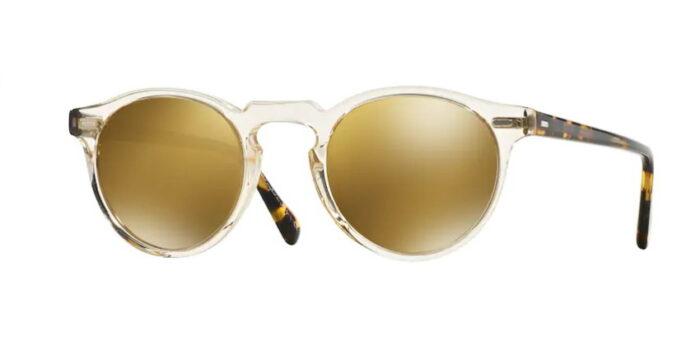 Oliver Peoples OV5217S Gregory Peck 1485W4 Buff/dark tortoise brown gold mirror Lenses
