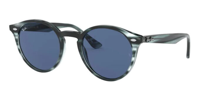 Ray Ban RB 2180 643280 stripped blue havanna, dark blue 75% 49mm