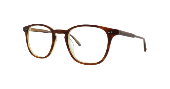 Garrett Leight Clark MBTL Matte Brown Tortoise Laminate side