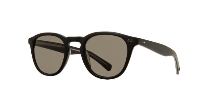 Garrett Leight Hampton X SUN MBK/PGY Matte black Pure grey 85% lenses side