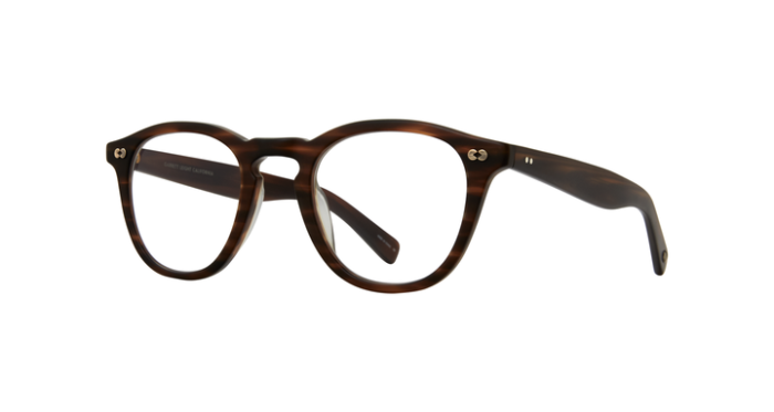 Garrett Leight Hampton X MBRT Matte Brandy Tortoise side