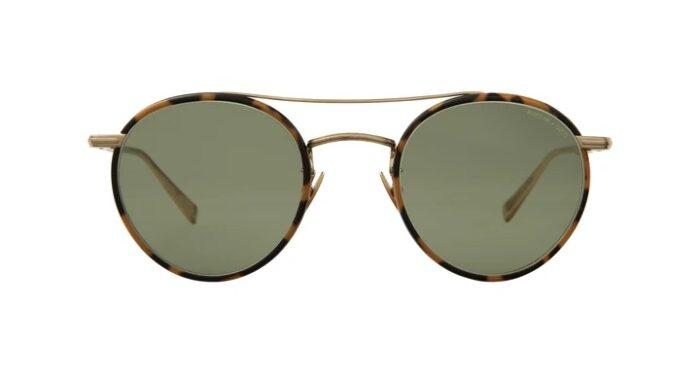 Garrett Leight Rimova X GLCO TTMG/SFGRN Tokyo Tortoise Matte Gold Semi Flat green
