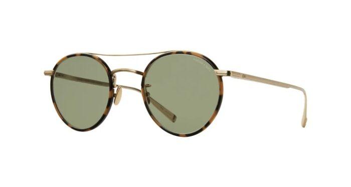 Garrett Leight Rimova X GLCO TTMG/SFGRN Tokyo Tortoise Matte Gold Semi Flat green side
