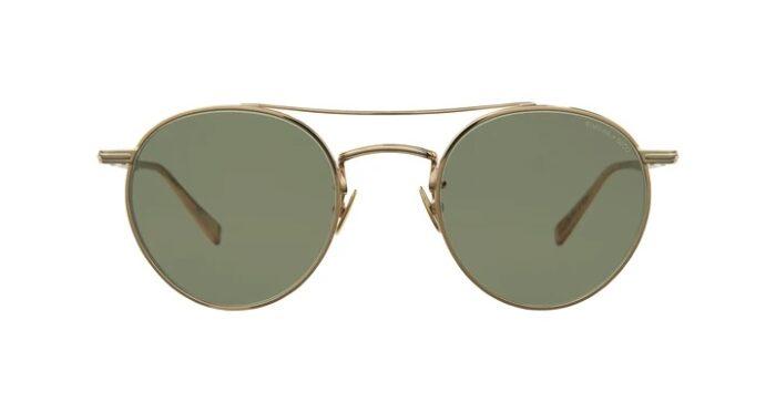 Garrett Leight Rimova X GLCO G/SGRN Gold Semi Flat Green